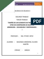 SOLIDOS EXAMEN FINAL ( PANDEO, PERNOS, SOLDADURA) - ALVARO MELÉNDEZ ARRÓSPIDE
