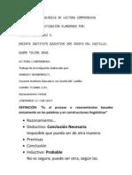 PROPUESTA METODOLÓGICA DE LECTURA COMPRENSIVA