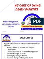 NURSING CARE OF DEATH AND DYING PATIENTS