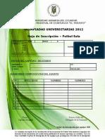 Formulario Inscripcion Futbol Sala