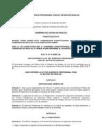 Ley Del Ejercicio Profesional Para El Estado de Hidalgo