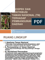 Prospek Dan Kontribusi Taman Nasional