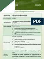 Intercultural Intelligence Workshop
