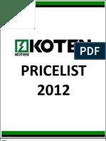 1customer Pricelist 2012