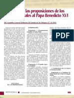 Lista Final de Las Proposiciones de Los Padres Sinodales a Benedicto XVI
