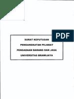 Sk Pengangkatan Pejabat Pengadaan Barang Dan Jasa