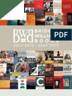 Bridget Williams Books Catalogue