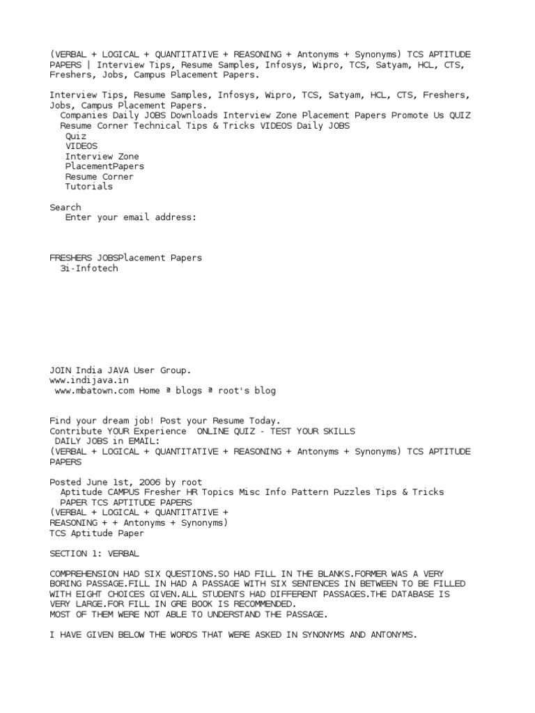 Awesome Resume Format For Tcs Interview Pdf Photos   Entry Level .