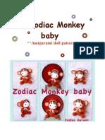 Zodiac Monkey Baby- Crochet Amigurumi Doll Pattern-PDF