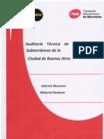 Auditoría Técnica de la Red de Subterráneos de la Ciudad de Buenos Aires