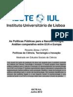 As Políticas Públicas para a Nanotecnologia