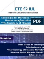 "Sociologia dos Mercados Financeiros Breves notações sobre o livro ""The Sociology of Financial Markets"""