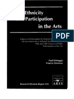 Race, Ethnicity, And Participation in the Arts