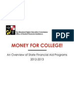 Office of Student Financial Assistance An Overview of Maryland State Financial Aid Programs 2012-2013