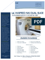 GE HI-Speed NXi Dual Slice CT EQ#6294