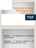 Techniques and Strategies