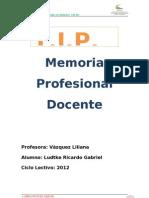 Memoria RL Profesional Docente