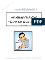 Mayordomia Cristiana Curso Escuela Ministerial I Junio 2012