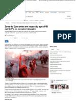 Zona do Euro entra em recessão após PIB cair 0,1% no terceiro trimestre - Crise Econômica Mundial - iG