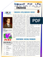 Conquest  For Life Jan - June 2012 Newsletter