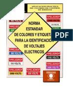 Norma Estandar de Colores y Etiquetas Para La Identificacion de Voltajes Electricos