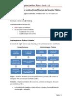 1. Lei 8.112 – Regime Jurídico Único-Estatuto do Servidor Público