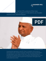 Anna Hazare, a Hanmer MSL analysis about the mass movement against corruption in India