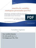 Charla Tecnica PLC2 Programacion Variables Analogicas RRubilarF Noviembre2012