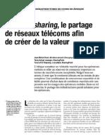 Network sharing, le partage de réseaux telecoms afin de créer de la valeur