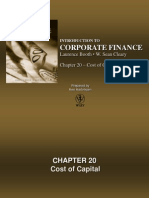 Chapter 20 - Cost of Capital