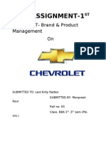 Assignment Brand Mgt Chevrolet