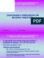 CADUCIDADE E PRESCRIÇÃO EM MATÉRIA FISCAL