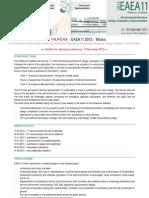 Eaea 11 2013 Milano Call for Papers II