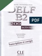 DELF B2 CORRIGE