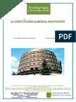 LA CONSTITUCION (LABORAL) INSUFICIENTE (Es) THE INSUFFICIENT (LABOUR) CONSTITUTION (Es) (LAN) KONSTITUZIO ESKASA (Es)