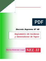 decreto supremo Nº 48 reglamento de calderas y generadores de vapor