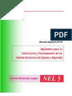 decreto supremo Nº 54 constitucion y funcionamiento de los comites paritarios de higiene y seguridad