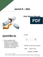 Tutorial II – AD1_Prof. Heleno Macedo
