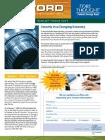 Trust Firm Quarterly Newsletter - October 2011