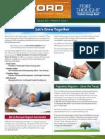 Trust Firm Quarterly Newsletter - January 2012