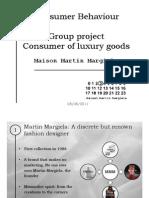 Consumer Behaviour - Margiela