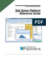 Risk Solver Platform Reference