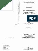 Schuon - Considerazioni Su Opera Di R.guenon