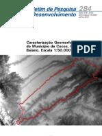 Caracterização Geomorfológica do Município de Cocos, Oeste Baiano, Escala 1-50.000