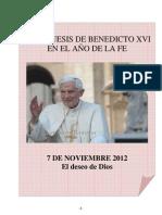 04. Catequesis de Benedicto XVI en el Año de la Fe. 07 Noviembre 2012