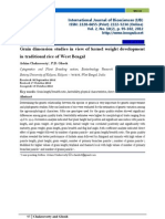 Grain Dimension Studies in View of Kernel Weight Development in Traditional Rice of West Bengal