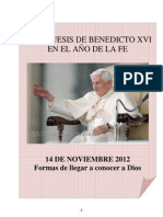 05. Catequesis de Benedicto XVI en el Año de la Fe. 14 Noviembre 2012