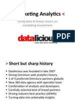 ANZ Marketing Analytics Session 3
