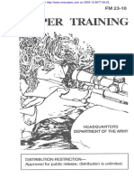 Fm 23 10 Sniper Training 17 August 1994