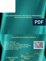 Los Contaminantes Orgánicos Persistentes Situación en México